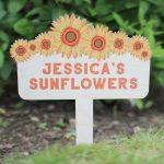 Personalised Sunflowers Plant Marker RFPSI004UV