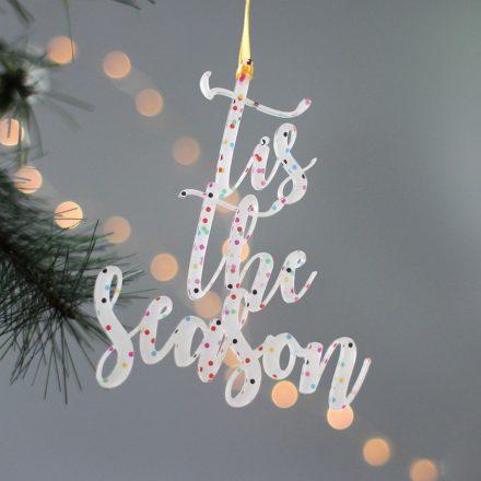 Christmas Decoration, Tis The Season XMRFHA009UV