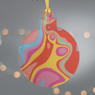Christmas Tree Decoration, Bright Swirl XMRFHA010UV