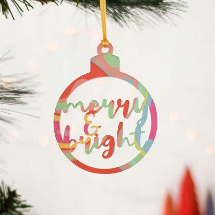 Christmas Tree Decoration, Cutout Swirl, Set Of Three XMRFHA011UV