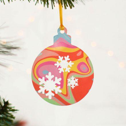 Christmas Tree, Snowflakes, Bright Swirl, Set Of Three XMRFHA012UV