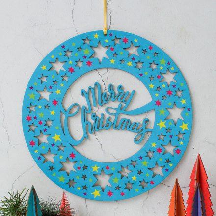 Bright And Merry Christmas Wreath XMRFWR003UV