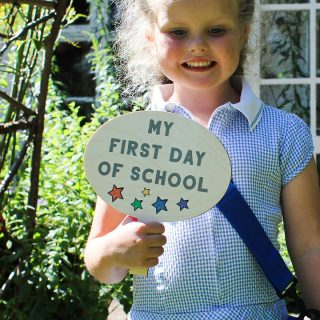 Personalised First Day Of School Sign, Back To School RFPSI005UV