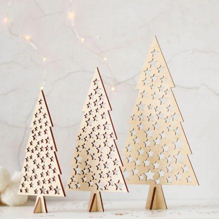 Christmas Tree Set, Star Cutout Design XMRFDE007