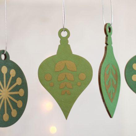 Christmas Tree Decoration Set, Green With Gold XMRFHA004UV