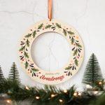 Personalised Christmas Wreath, Holly XMRFWR002UV